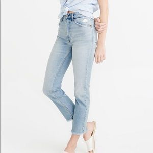 Abercrombie Zoe High Rise Ankle Jeans New 28 6R